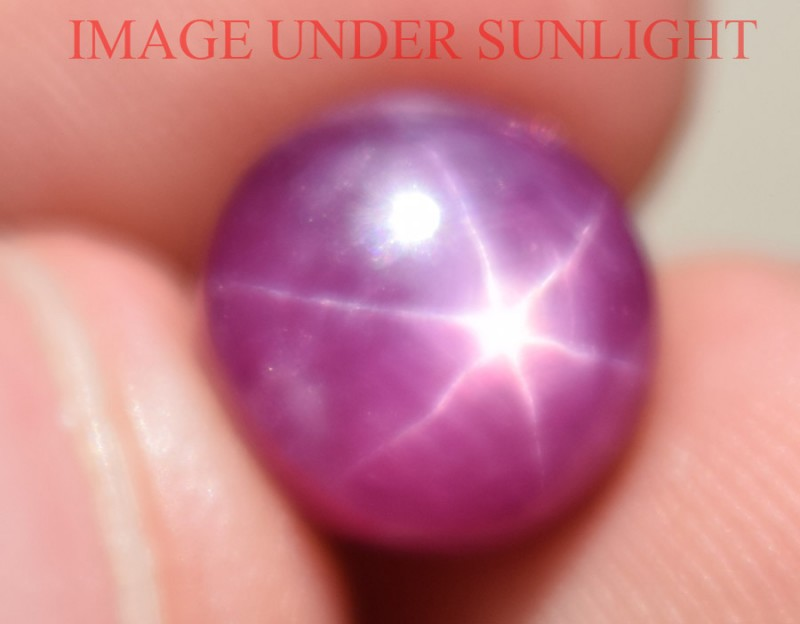 8.78 Ct Star Ruby CERTIFIED Beautiful Natural Unheated Untreated