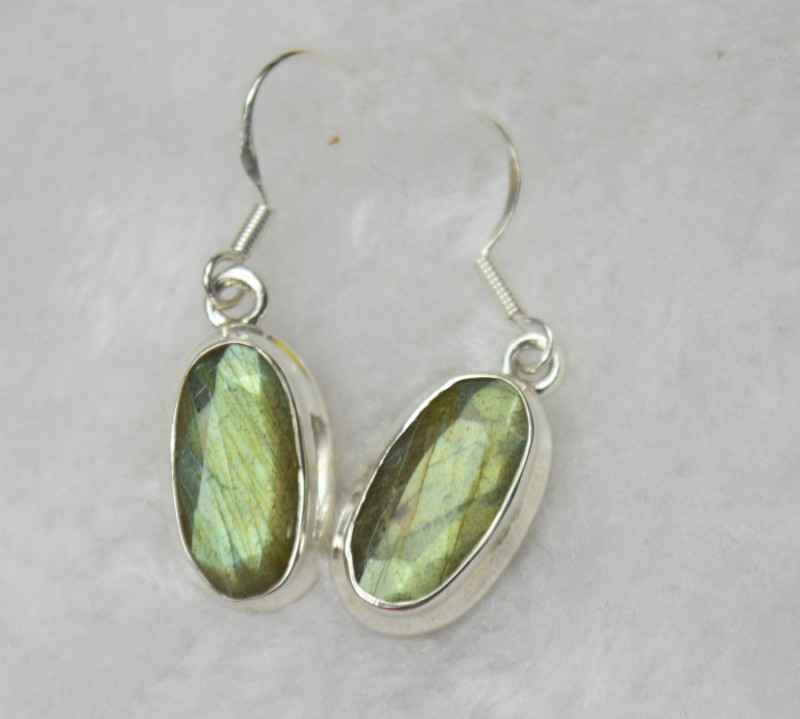e5205f3e0 NATURAL UNTREATED LABRADPROTE EARRINGS 925 STERLING