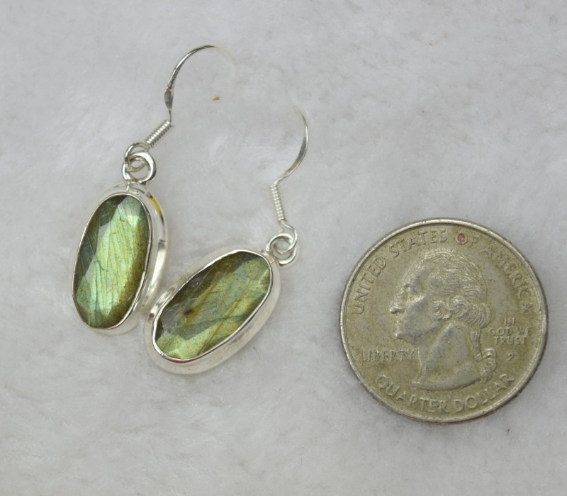 065a8be04 NATURAL UNTREATED LABRADORITE EARRINGS 925 STERLING SILVER JE413