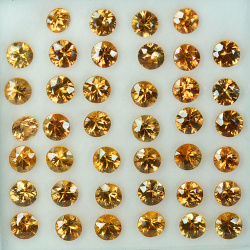 Wonderful Yellow Zircon  5mm Round Parcel 26.88 Cts