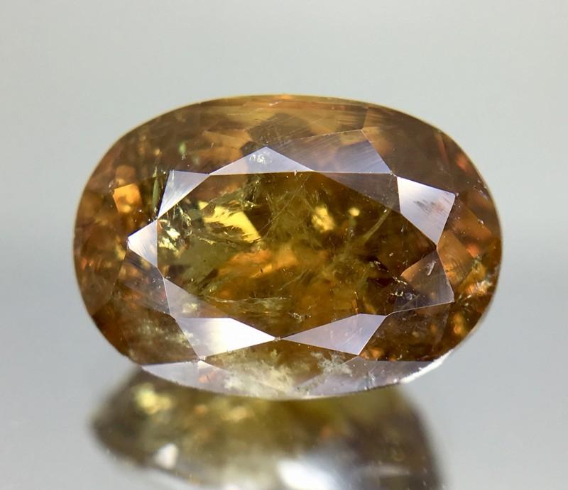3.94 Crt GIL Certified Topazolite Garnet Faceted Gemstone