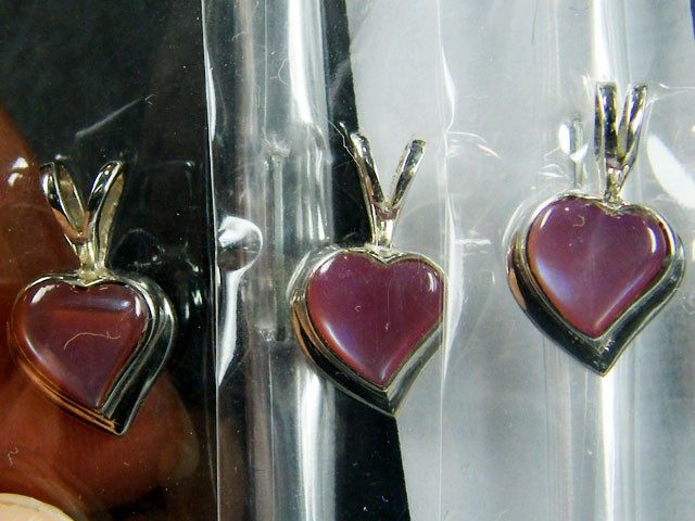 PARCEL 3 SHELL HEART STERLING PENDANTS EARRING MYT 600