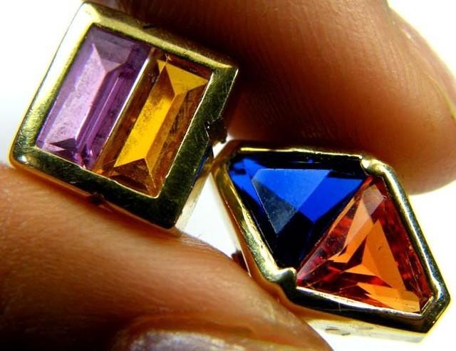 Estate jewellery 18 k gold with gemstones TB28