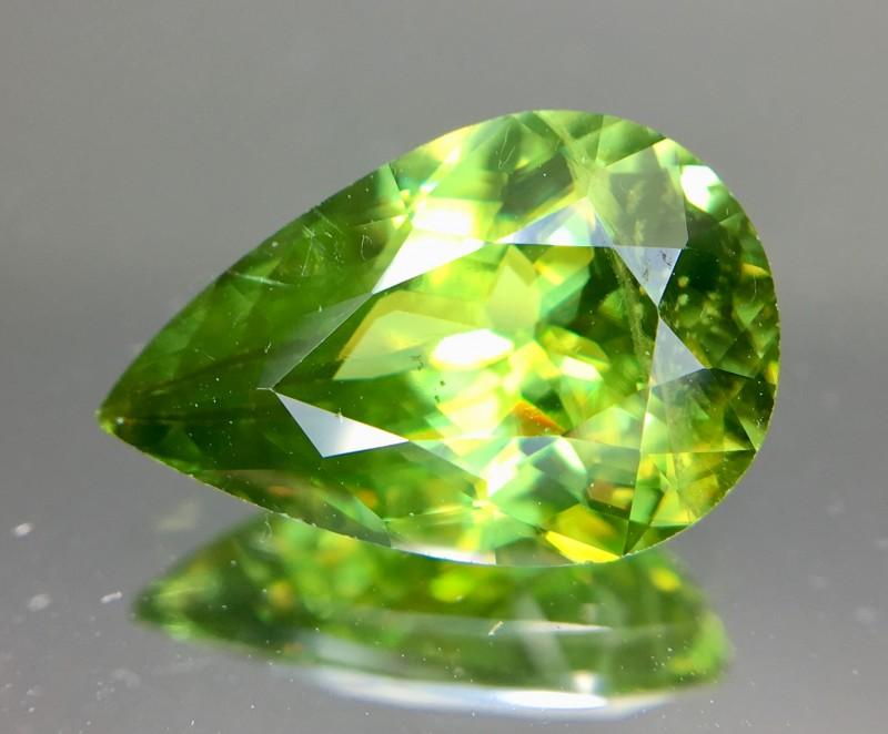 3.20 Crt Natural Chrome Sphene Faceted Gemstone