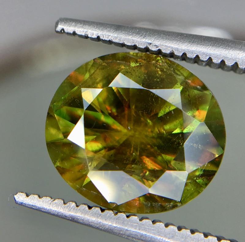 2.65 Crt Natural Chrome Sphene Faceted Gemstone