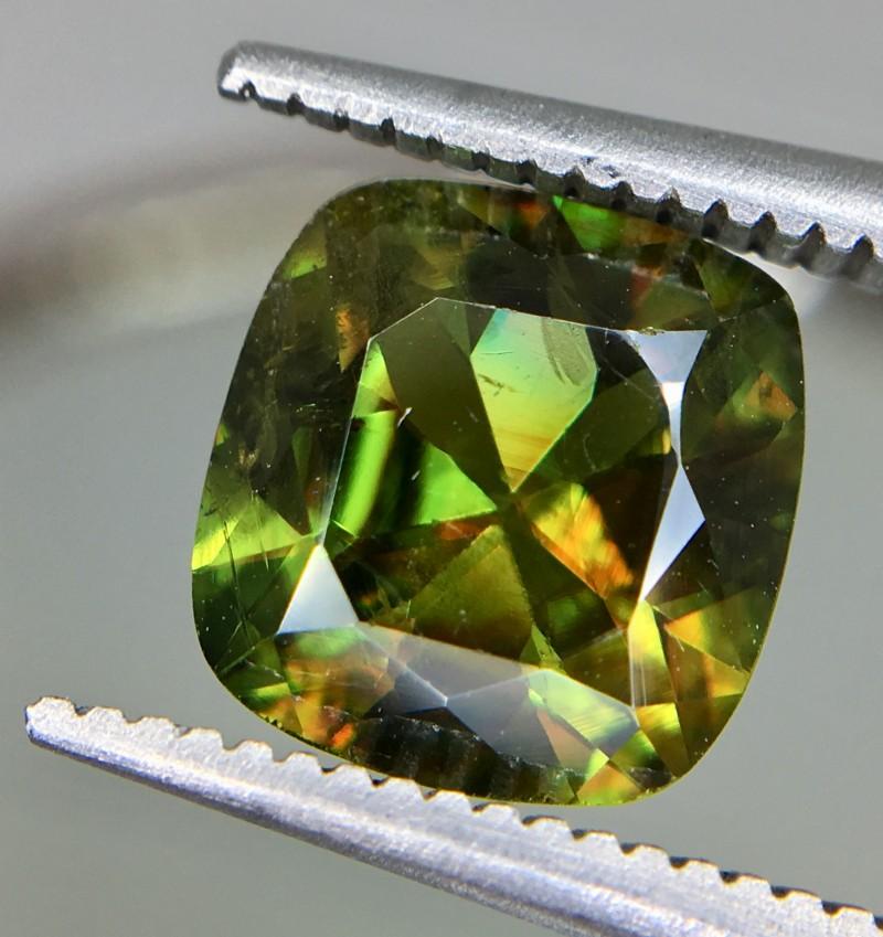 2.15 Crt Natural Chrome Sphene Faceted Gemstone