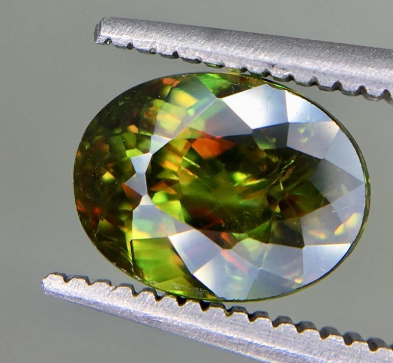 2.40 Crt Natural Chrome Sphene Faceted Gemstone