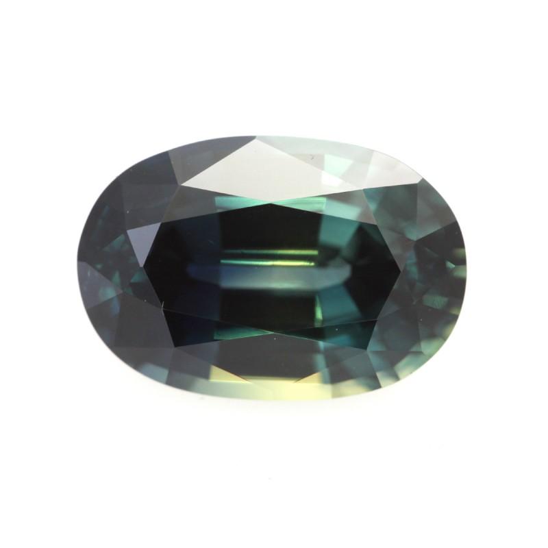 3.26cts Natural Australian Blue Parti Sapphire Oval Shape