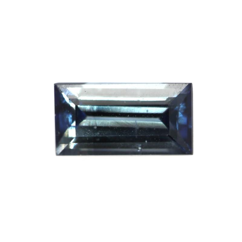 0.45cts Natural Australian Blue Sapphire Baguette Shape