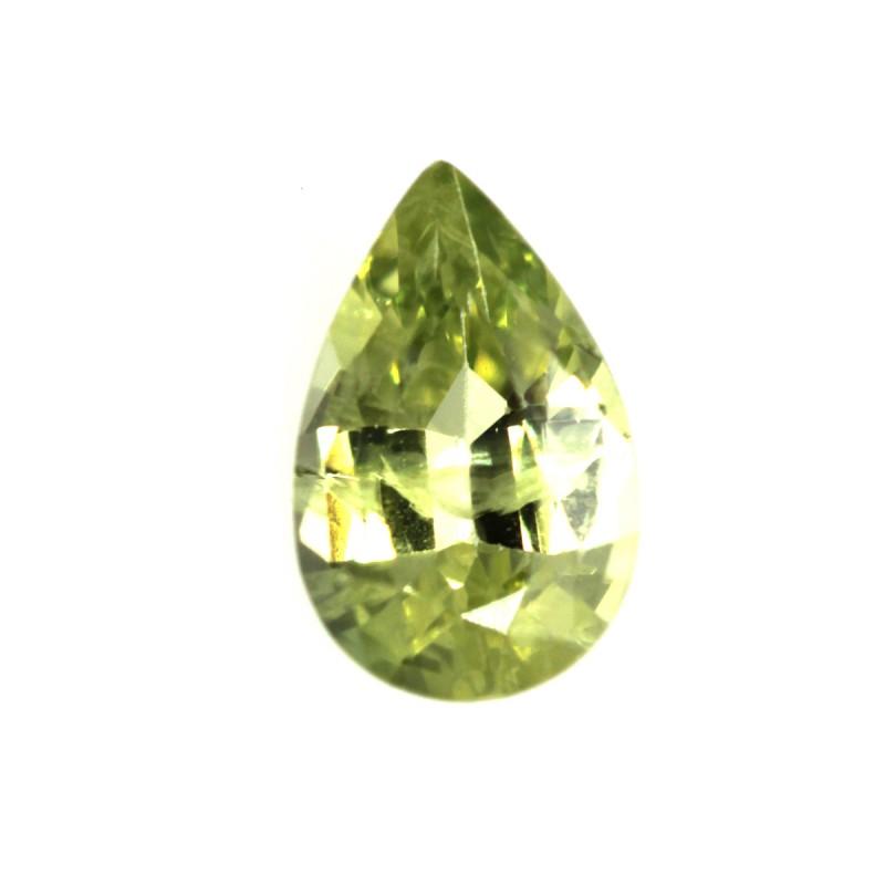 0.41cts Natural Australian Yellow Sapphire Pear Shape