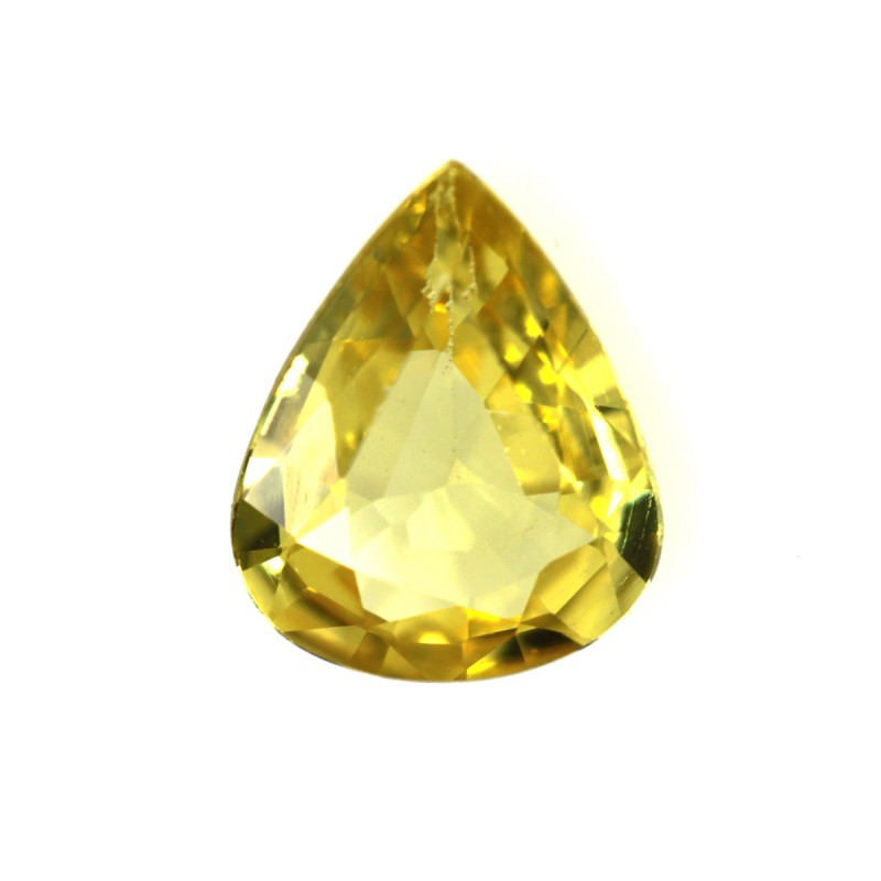 0.54cts Natural Australian Yellow Sapphire Pear Shape