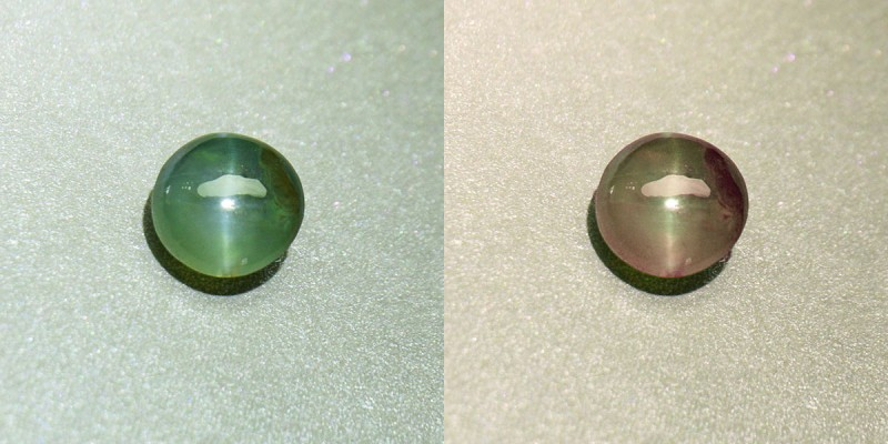 Alexandrite Silver Ray Cat's Eye Unheated / Untreated 1.70 ct. Certified (0