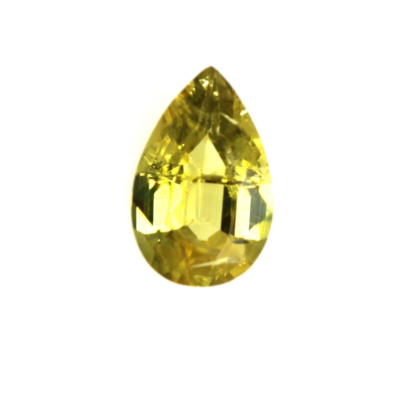 0.51cts Natural Australian Yellow Sapphire Pear Shape