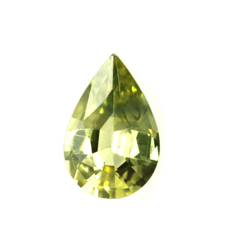 0.45cts Natural Australian Yellow Sapphire Pear Shape
