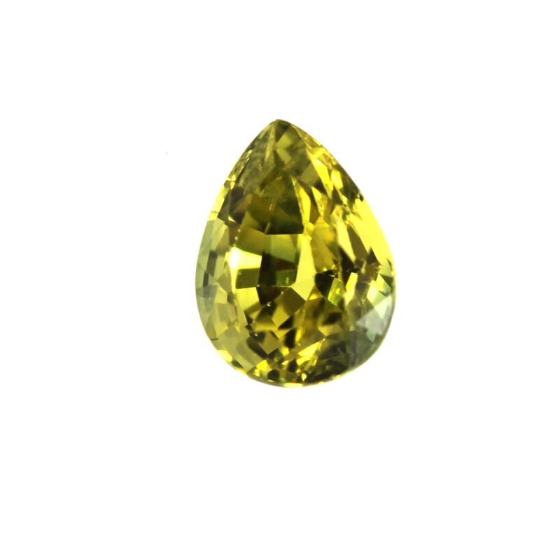 0.42cts Natural Australian Yellow Sapphire Pear Shape