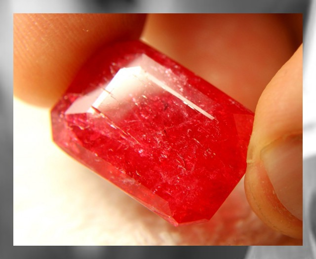 RHODONITE ~ A VERY RARE GEM @ A VERY RARE SIZE ~   35ct !!!