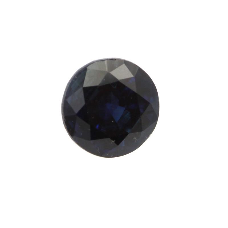 0.64cts Natural Australian Blue Sapphire Round Shape