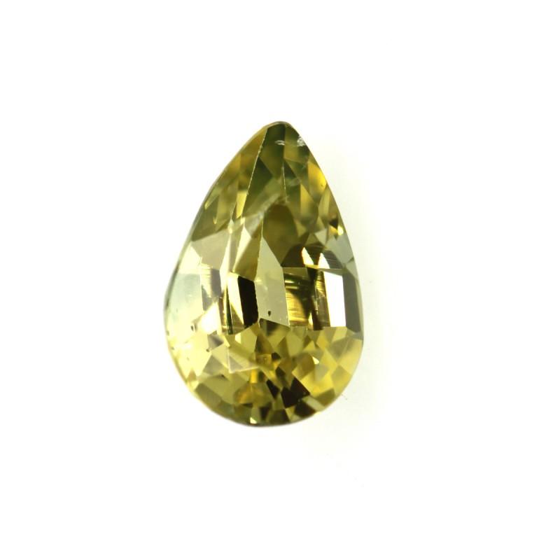 0.43cts Natural Australian Yellow Sapphire Pear Shape