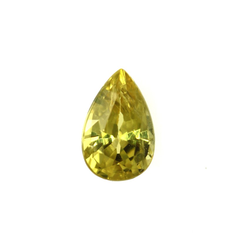 0.26cts Natural Australian Yellow Sapphire Pear Shape