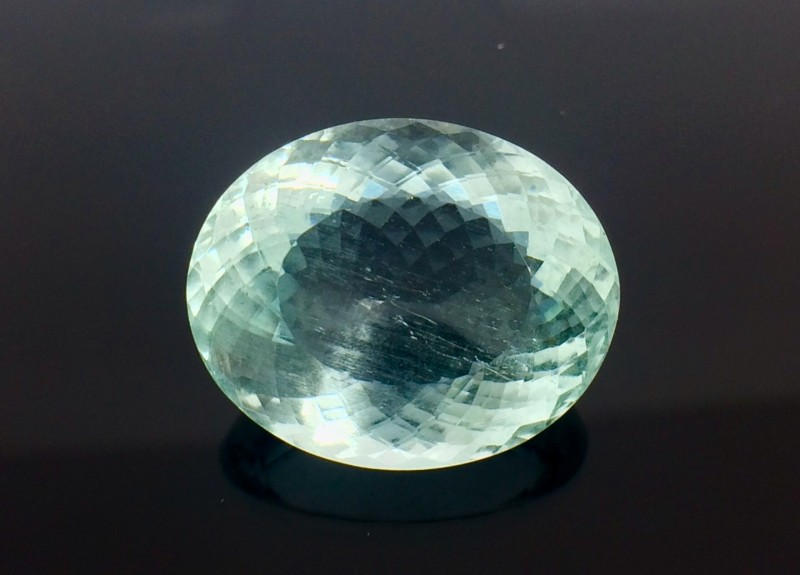 19.26 Crt  Natural Aquamarine Top luster Top cutting  Faceted Gemstone (AQ