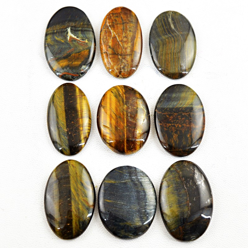 genuine 390 00 cts oval shape tiger eye untreated