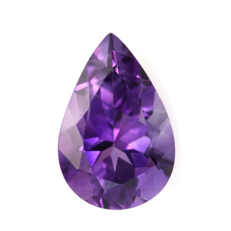 5 20cts Natural Purple Amethyst Pear Shape