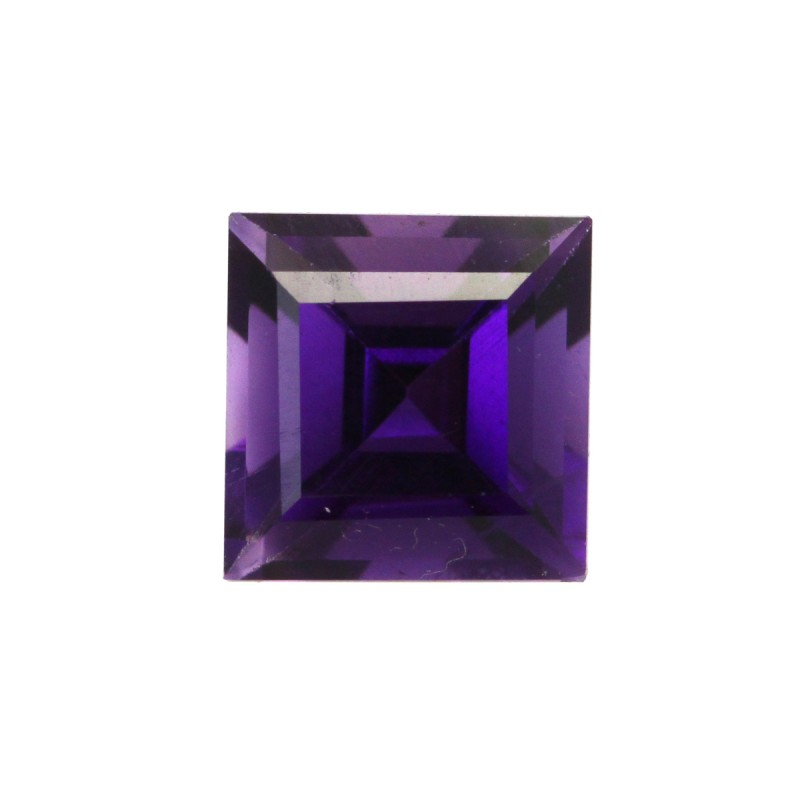 1.42cts Natural Purple Amethyst Square Cut