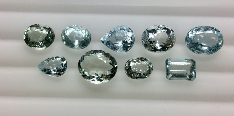 15.20 Crt Aquamarine Parcels Faceted Gemstone