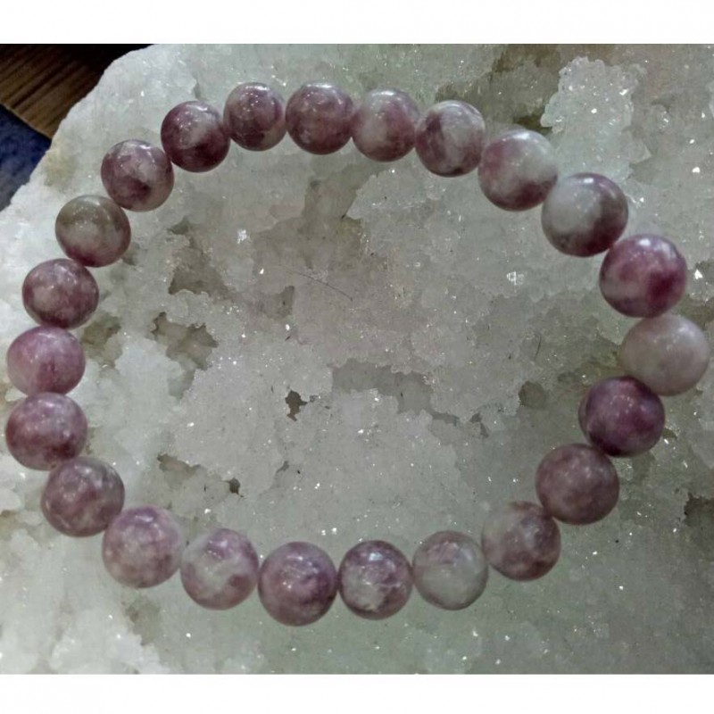 Lepidolite Stone Bracelet 8mm