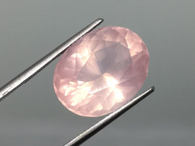 10.02 Carat Rose Quartz - Sweet Pink - Incredible Glowing Luster !