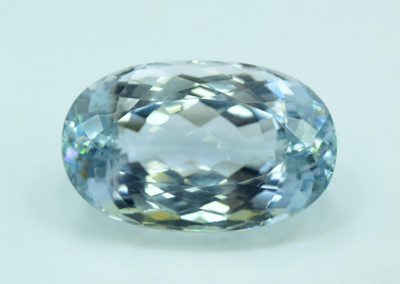 39.20 carats Oval Cut Aqua Color Natural Spodumene Gemstone