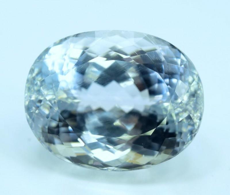 54.95 carats Oval Cut Aqua Color Natural Spodumene Gemstone
