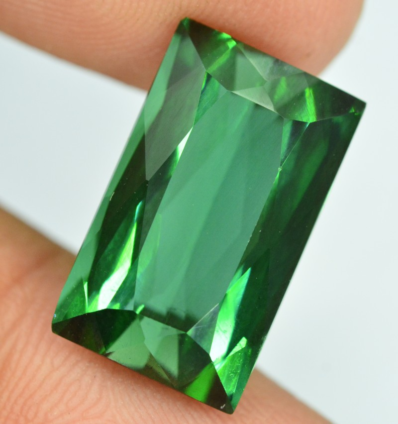 Certified 8.55  carats Transparent Green colour Tourmaline Gemstone