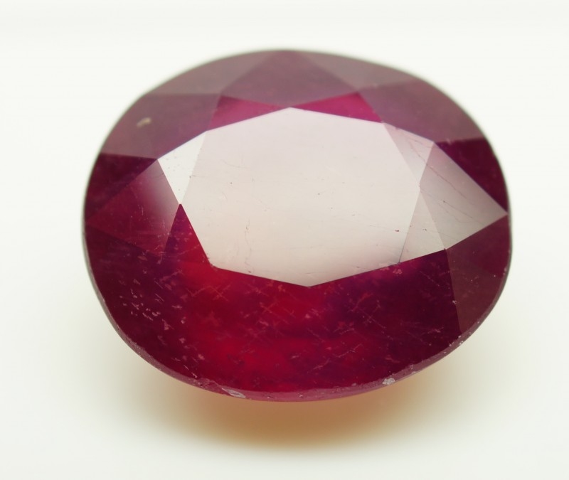 18.62 Cts . Top Quality Blood Red Natural Ruby Mozambique Gem