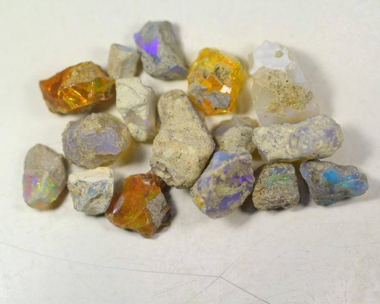 103.0Cts Ethiopian Welo Rough Opal Parcel Lot