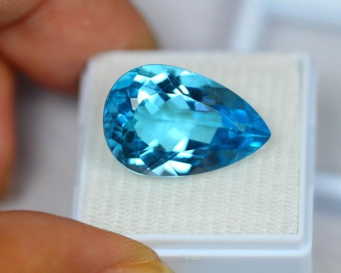 18.23Ct Blue Topaz Pear Cut Lot LZB222
