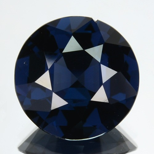 3.08 Cts Natural Spinel Deep Blue Round Srilanka