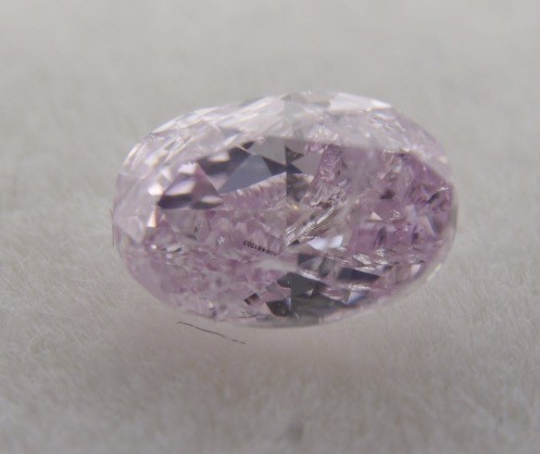 GIA Oval 0.50ct Fancy Light Purplish Pink Diamond