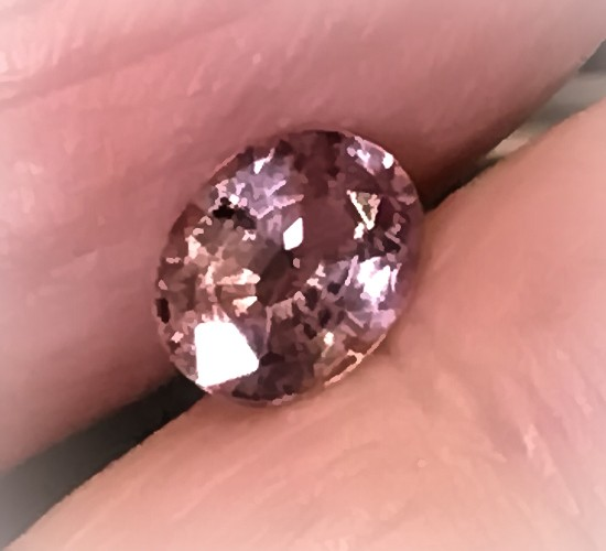 1.23ct Pink Brown Axinite Jewel Sparkling stone