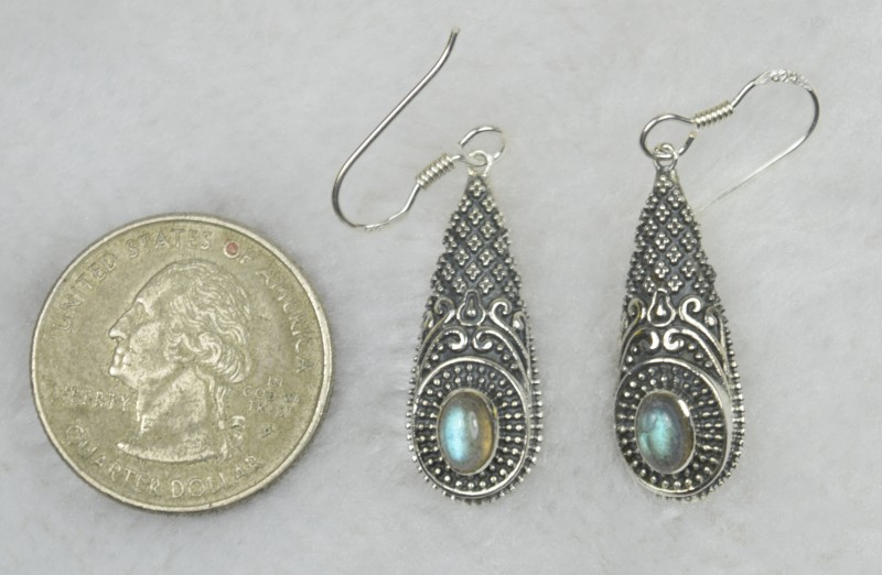 3b3095489 NATURAL UNTREATED LABRADORITE EARRINGS 925 STERLING SILVER JE567