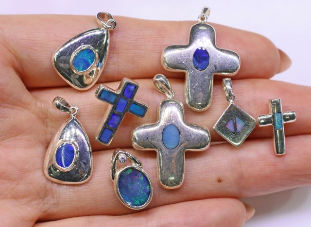 Parcel Deal below wholesale 8 opal pendants SB 326