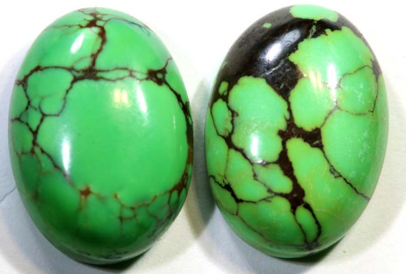 9.7-CTS TURQUOISE PAIR  NATURAL  CABS  TBM-1469