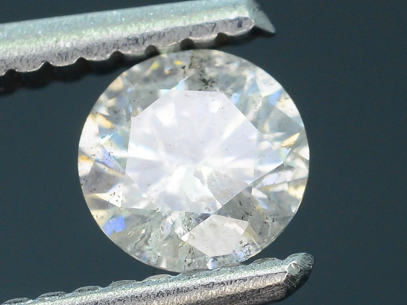 "Certified 0.52 ct Diamond Untreated ""G"" Color SKU 4"