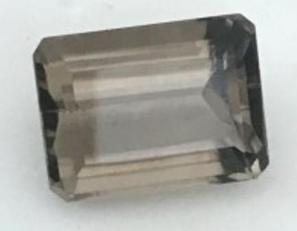 14.35ct Emerald Cut Smoky Quartz - G61