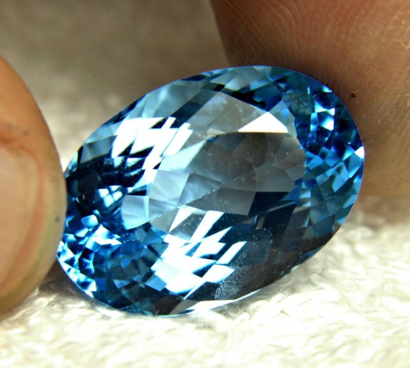 27.4 Carat Blue Brazil VVS Topaz - Gorgeous