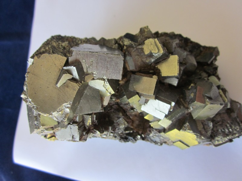 Pyrite  many large crystals Elba Italy from Metropolis collection