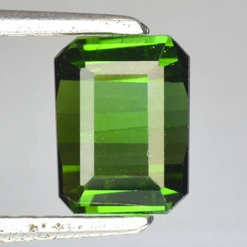 1.71 Cts Natural Neon Green Tourmaline Octagon Cut Nigeria