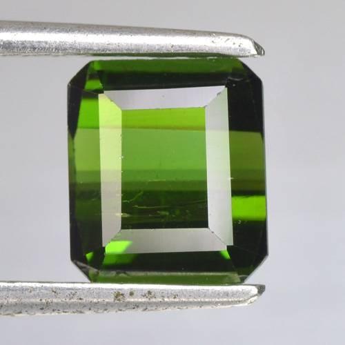 2.37 Cts Natural Neon Green Tourmaline Octagon Cut Nigeria