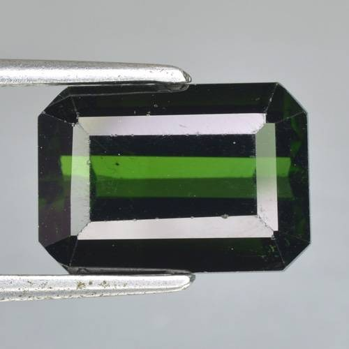 7.12 Cts Natural Deep Green Tourmaline Octagon Cut Nigeria