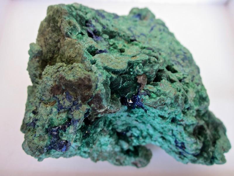 Azurte with Malachite display specimen 810 grams